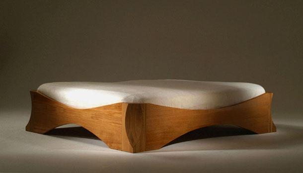 Holzbett design  Holzbett, Massivholzbett, Designerbett Symphonie